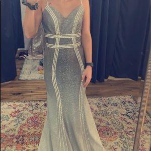Silver Ombré Prom Dress!